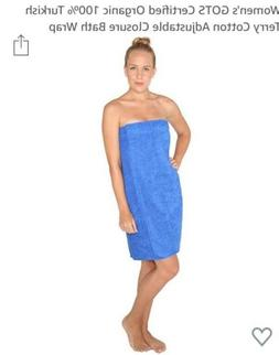 arus women's organic cotton eco spa turkish bath wrap towel